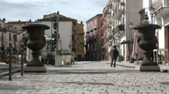 Old town of Isernia Stock Footage