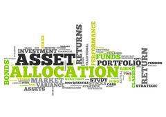 Word Cloud Asset Allocation - stock illustration