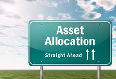 Signpost Asset Allocation - stock illustration
