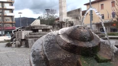Fountain in downtown isernia Stock Footage
