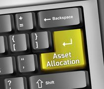 Keyboard Illustration Asset Allocation - stock illustration