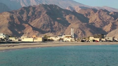 Sultanate of Oman, Musandam peninsula, Gulf of Oman, Daba, near Dibba Al-Baya Stock Footage