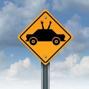 Autonomous Driving - stock illustration