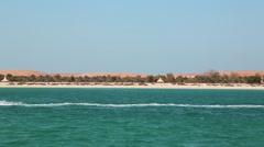 Lulu island in Abu Dhabi, United Arab Emirates Stock Footage
