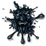 Scary Oil Spill - stock illustration