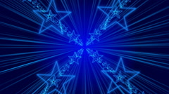 blue abstract background, rotating and flashing stars, loop - stock footage