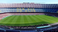 FC Barcelona Nou Camp football stadium Stock Footage