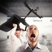 Tension in the office - stock photo
