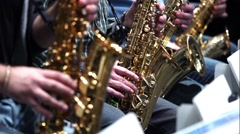 Saxophone player jazz music Stock Footage