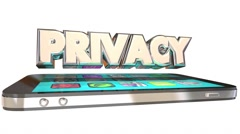 Privacy Sensitive Personal Information Smart Cell Phone Safety 3d Word Stock Footage