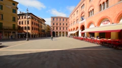 Treviso, Italy, central square Stock Footage
