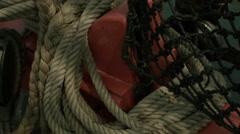 Sailing Ship, Sail, Yard, Rig, Cordage, Ropes Stock Footage