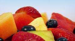 Tasty Mixed Fruit Rotating Closeup Stock Footage