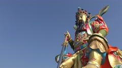 4K Impressive monument of Xuan Wu, the Mysterious Warrior, temple Kaouhsiung-Dan Stock Footage
