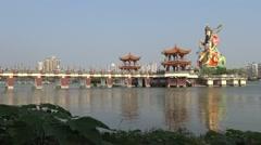4k Famous God Xuan Wu statue at Pei Chi Pavilion, Hsuantien Shangti Temple. -Dan Stock Footage