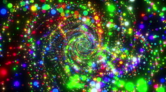 VJ Loop Spiral Particles 1 Stock Footage