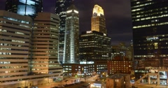 Busy Night in Minneapolis Stock Footage