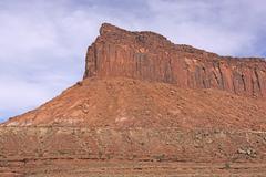 Red Rock Escarpment in the Desert Stock Photos