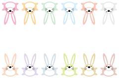 Set of twelve colorful easter bunnies Stock Illustration