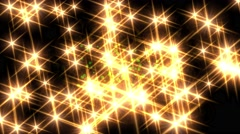 Lens flare sparkling glowing twinkle star lights glow background 4k Stock Footage
