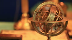 Armillary Sphere-astronomical instrument, which is used to determine the Stock Footage