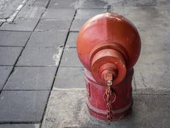 Fire hydrant / Fire connection department on footpath floor Stock Photos