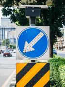 Arrow traffic signboard Stock Photos