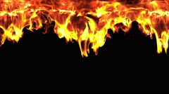 Abstract fire curtain burning from the sky with flame spark alpha transparent Stock Footage