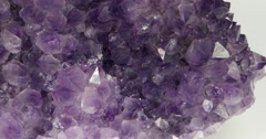 Amethyst Druse, panorama, top view Stock Footage