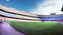 View of Nou Camp Stadium in Barcelona, FC Barcelona Stock Footage