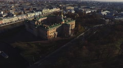 Historical Building From Birds-Eye View - stock footage