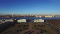 Historical Buildings Of St.-Petersburg In The Morning Stock Footage