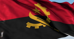 Ultra realistic looping flag: Angola - stock footage