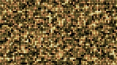Seamless abstract spangle optic golden lights pattern glittering background - stock footage