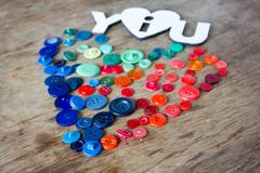 Many multi-colored buttons Stock Photos