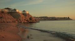 Beautiful egyptian beach on sunset Stock Footage