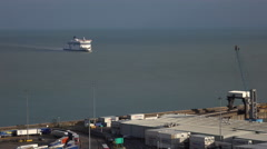Dover England ferry arrives from France 4K Stock Footage