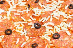 Pizza preparation - stock photo