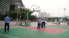 The people are playing basketball Stock Footage