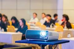 Projector in conference room - stock photo