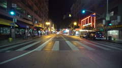 4K Driving Plates LA Downtown Broadway Rear View 02 South bound at 7th to 9th Stock Footage