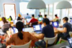 Blur people in seminar room Stock Photos