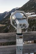 Coin Operated Binocular viewer - stock photo