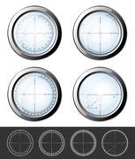 Sniper  crosshairs set - stock illustration