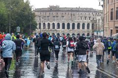Rome, Italy - March 22, 2015: Marathon in Rome Stock Photos