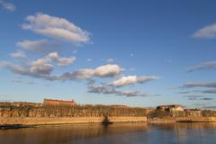 View over Garonne River in Toulouse Stock Photos