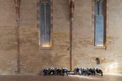 Huge hall of Augustian convent in Toulouse Stock Photos