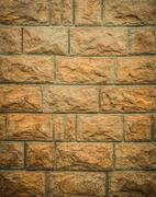 Rough stone brick wall texture for background - stock photo