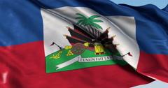 Ultra realistic looping flag: Haiti Stock Footage