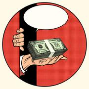 Stock Illustration of Money as a gift. Charity and fundraising